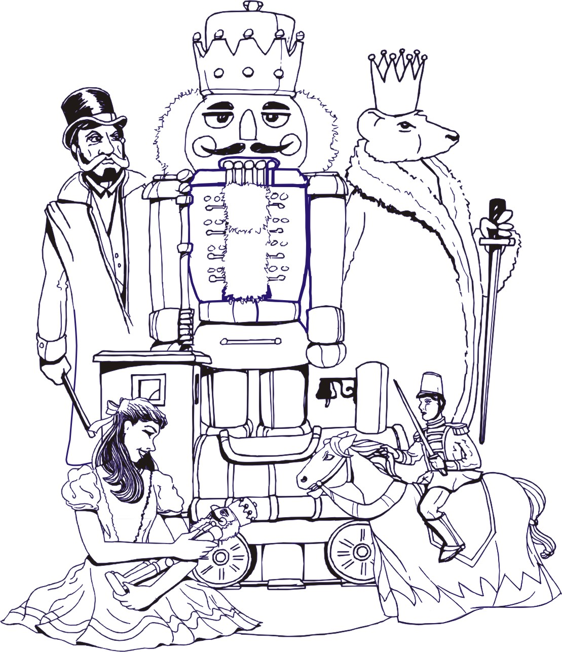 Action Beauty The Nutcracker Coloring Pages Images best kids fun page images